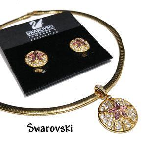 Swarovski Sand Dollar Necklace & Earrings Set